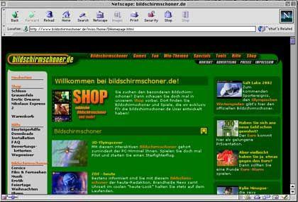 Beliebteste Site für die Bildschirmschoner