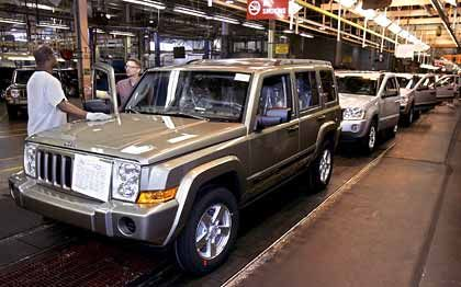 Robustes Wachstum: Produktion im Jeep-Werk von Chrysler in Detroit