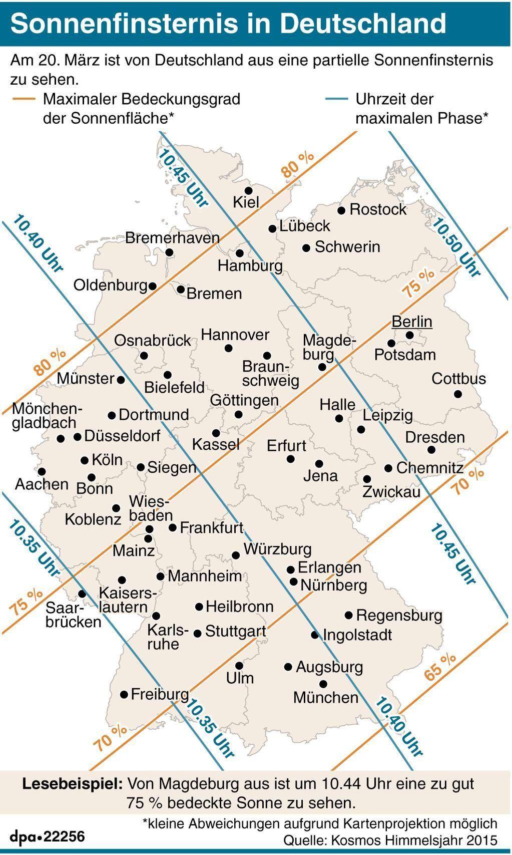 Sonnenfinsternis 20.03.2015; Karte