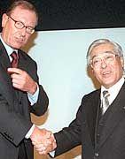 Ende einer Geschäftsbeziehung: Jürgen Schrempp und Katsuhiko Kawasoe