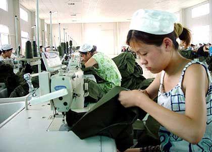 Textilfabrik in China: Wirtschaftswachstum flaut ab
