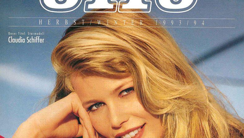 Titelbild von 1993: Claudia Schiffer eröffnete den Reigen der Supermodels auf dem Cover des Otto-Katalogs.