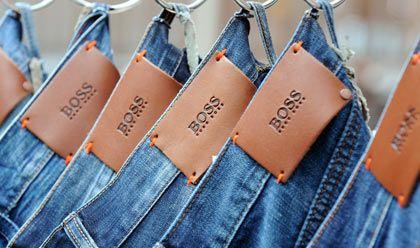 Hängen geblieben: Die Produkte von Hugo Boss haben sich schon besser verkauft