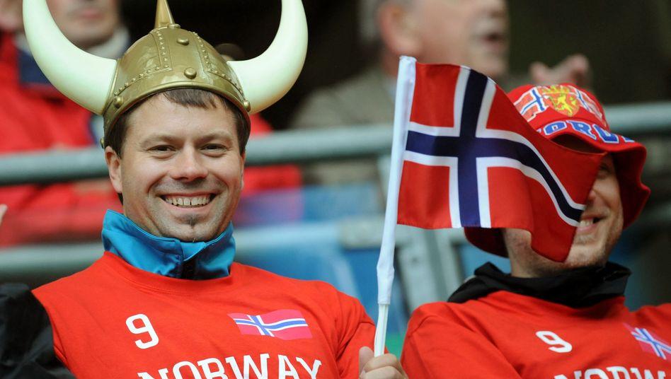 Norwegischer Fußballfan
