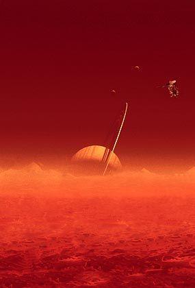 """Cassini-Sonde in der Umlaufbahn des Saturns: Der """"Herr der Ringe"""" und seine zwei Monde"""