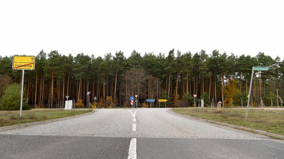 Brandenburg, Freienbrink: Auf diesem Waldstück will der Elektroauto-Hersteller Tesla die neue Fabrik für Elektroautos bauen.