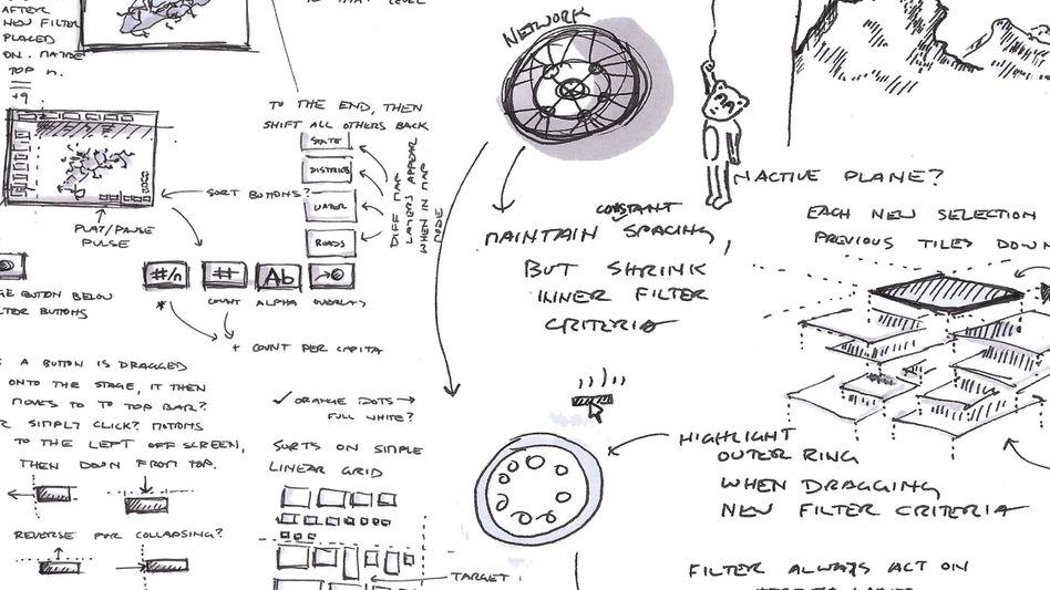 """Die Arbeit """"Design Sketch"""" des amerikanischen Künstlers Noa Younse, Mitglied der Gruppe The Office for Creative Research"""