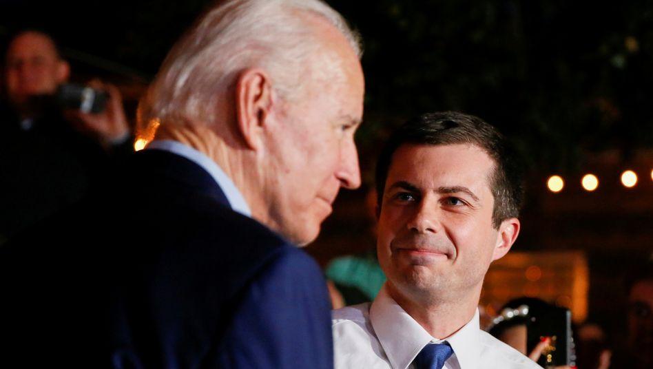Gut eine Generation auseinander: Der gewählte Präsident Joe Biden (78) und sein designierter Verkehrsminister Pete Buttigieg (38)