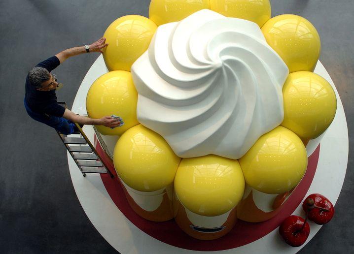 Puddingspender bei Oetker in Bielefeld: Der Mischkonzern könnte wegen der Fehde innerhalb der Eignerfamilie bald in seine Teile zerlegt werden