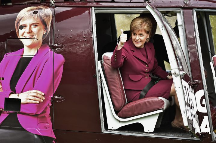SNP-Chefin Sturgeon: Im Norden Großbritanniens beliebt