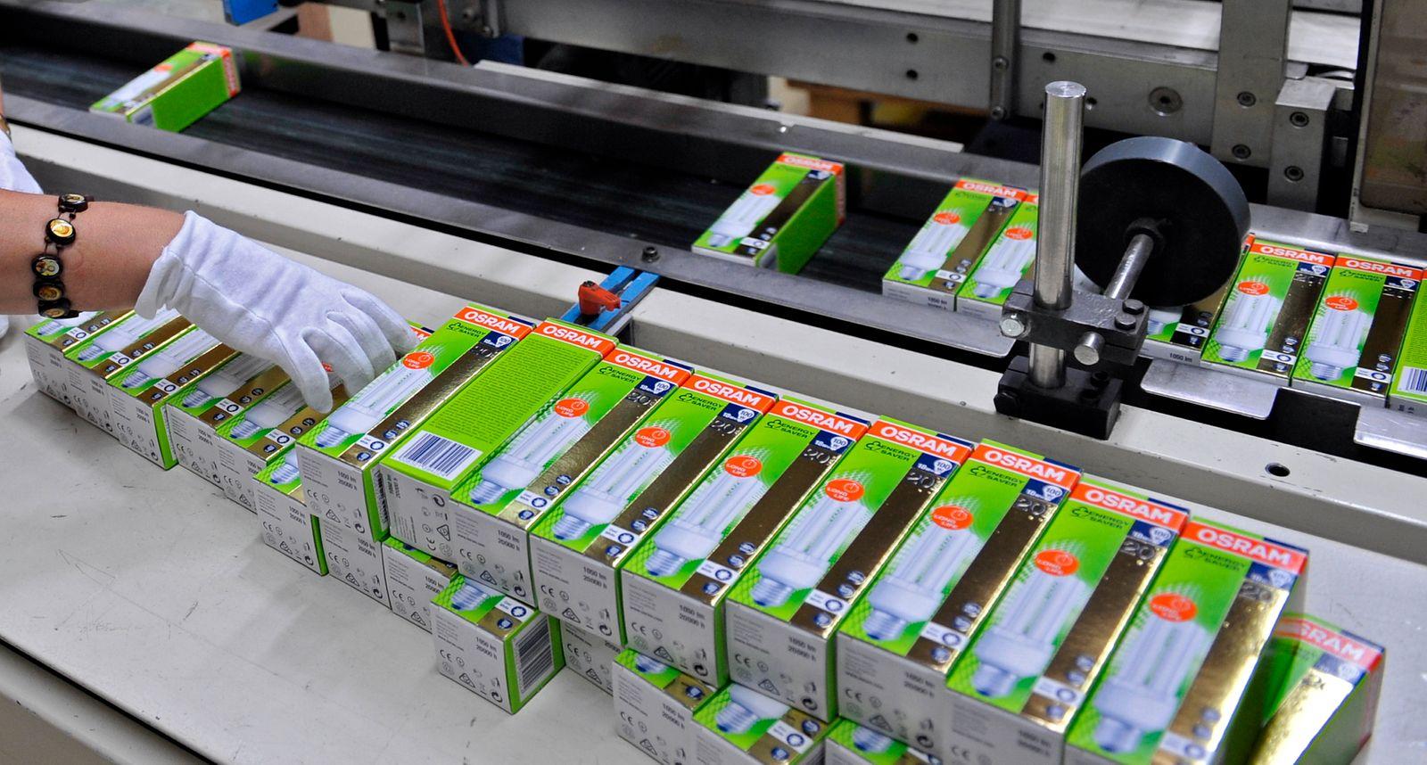 NICHT VERWENDEN Herstellung / Energiesparlampen / Osram
