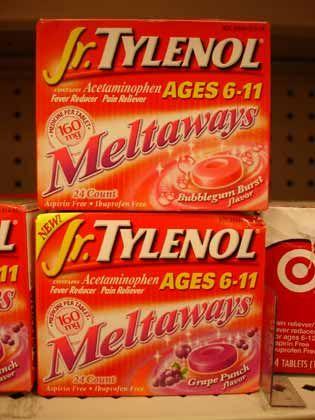 """Trend """"Schrille Sachen"""": Jr. Tylenol Meltaways - Schmerztabletten mit Bubblegum-Geschmack"""