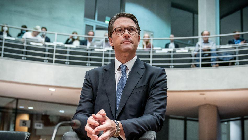 Bundesverkehrsminister Andreas Scheuer vor dem Maut-Untersuchungsausschuss