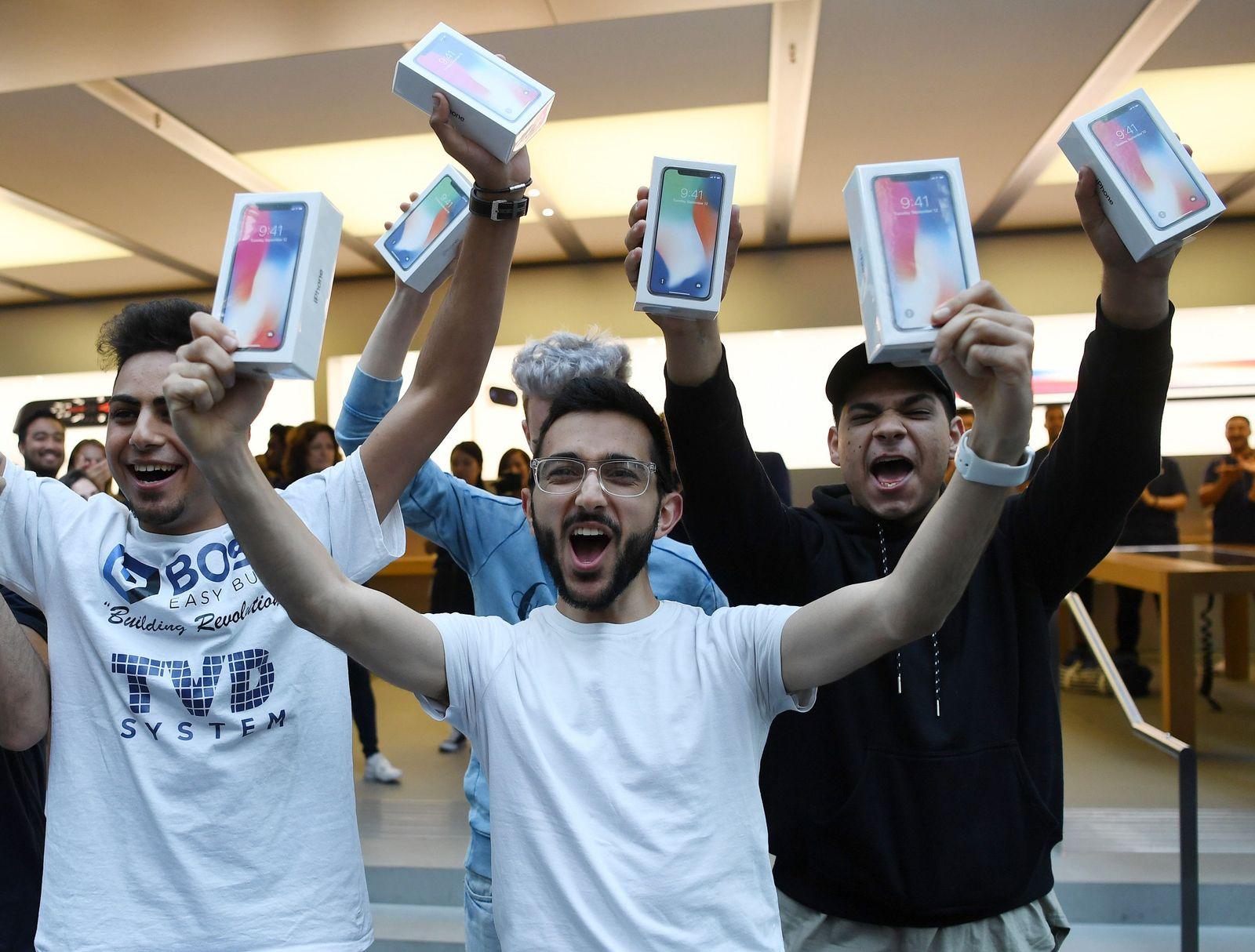 Apple-iPhone X Verkaufsstart