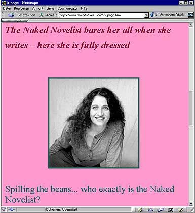 """Naked Novelist"": Schamhaftes posieren vor der Webcam"