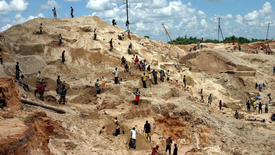 Erzabbau im Kongo: Kobalt und Kupfer sind wichtige Rohstoffe im Zeitalter der Elektro-Mobilität