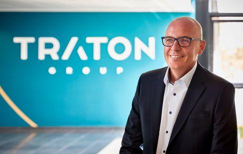 Traton: Vorstandschef Matthias Gründler freut sich im ersten Quartal vor allem über ein starkes Lkw-Geschäft