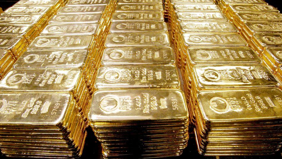 """Goldbarren: Anleger flüchten weiter in den """"sicheren Hafen"""" Gold"""