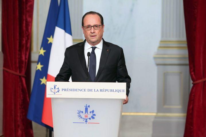 Frankreichs Präsident Francois Hollande in seiner Rede zur Lage der Nation