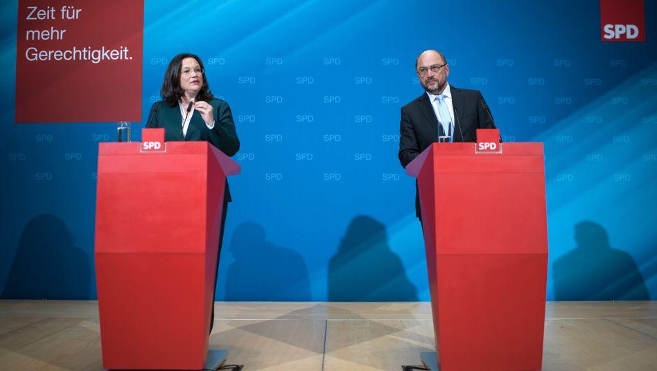 """Schulz, Nahles: """"Doppelte Haltelinie"""" bei der Rente"""