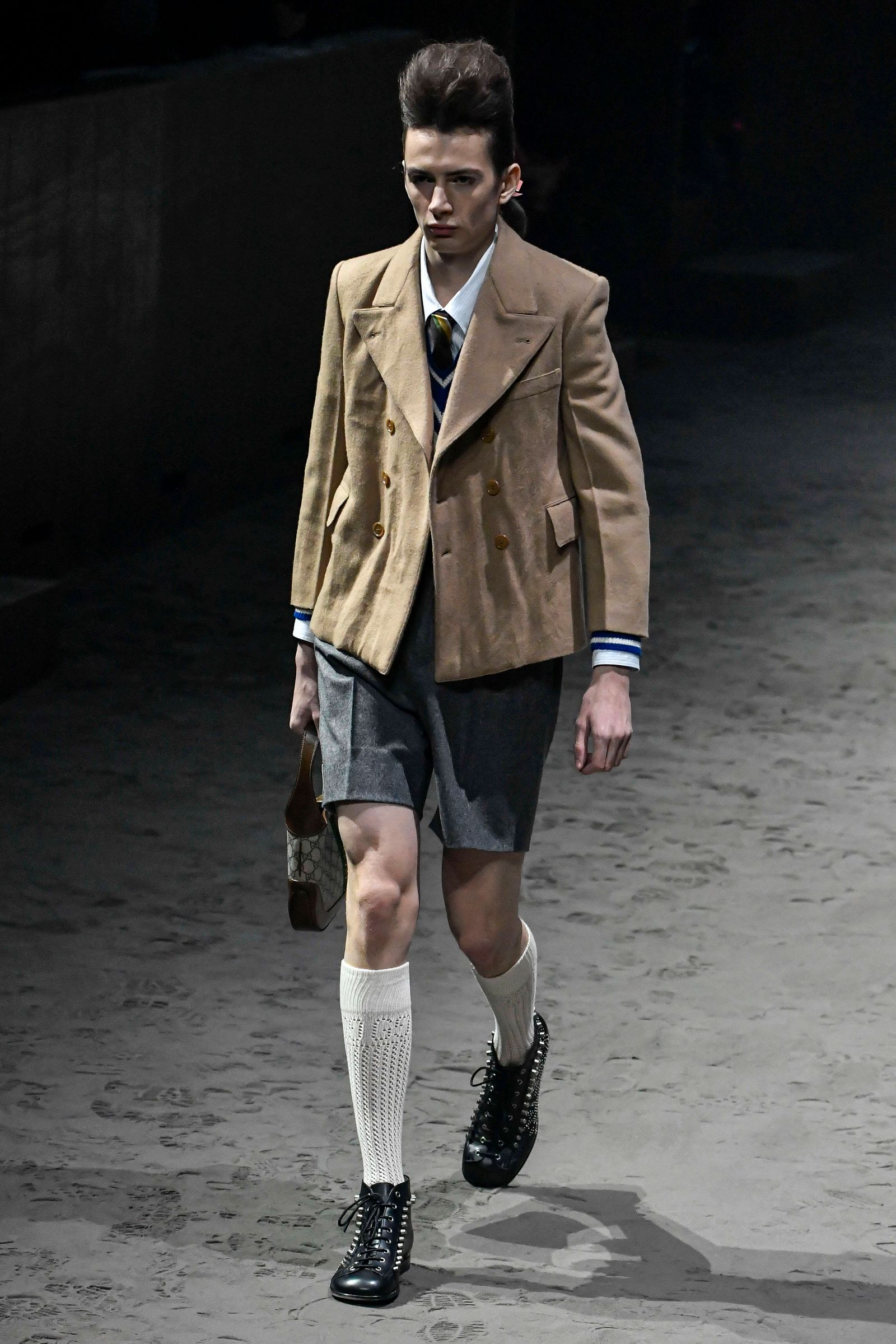 Milan Fashion Week, Man Fall Winter 2020/2021. Milan, Men s Fashion Fall Winter 2020 / 21. Gucci fashion show. Pictured: