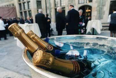 Edler Tropfen: Champagner erwartet die Gäste