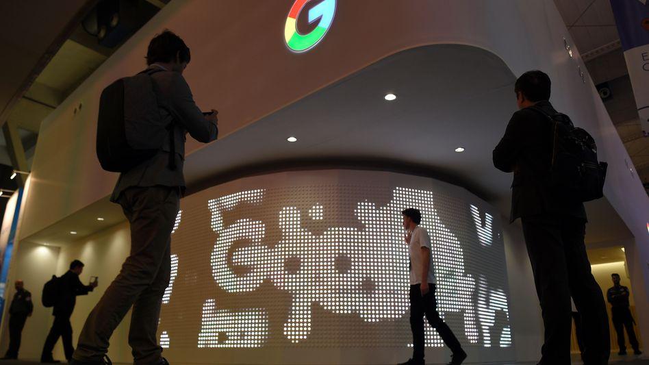Google-Stand auf dem Mobile World Congress