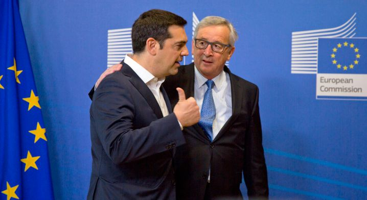 Immer eine warme, freundschaftliche Hand für Griechenlands Premier: EU-Kommissionspräsident Juncker