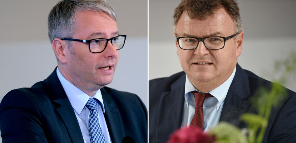 Stefan Sommer (links) verlässt ZF Friedrichshafen - sein Widersacher, Oberbürgermeister Andreas Brand, zugleich Mitglied des Präsidiums des ZF-Aufsichtsrats, hat den Machtkampf gewonnen