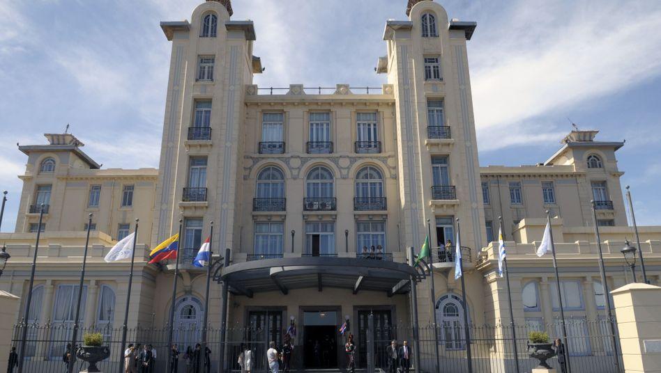 Der Staatenbund Mercosur (hier das Hauptquartier in Montevideo) ist mit einer Bevölkerung von mehr als 260 Millionen Menschen einer der großen Wirtschaftsräume der Welt. Die EU kommt sogar auf mehr als 512 Millionen Einwohner.