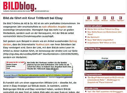 """Könnten Probleme bekommen: Der beliebte Bildblog, der sich mit den Themen von """"Bild"""" auseinandersetzt"""