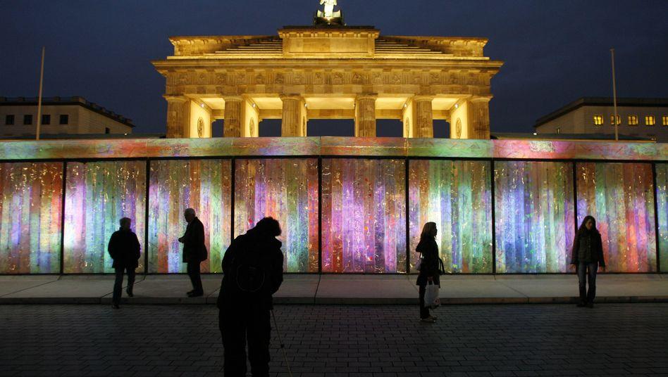 Lichtprojekt am Brandenburger Tor