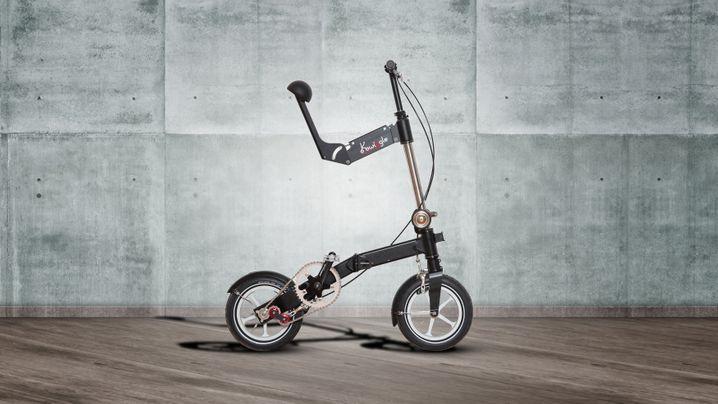 Testfahrt mit dem Mini-Klapprad Kwiggle: So fährt sich der Prototyp des 8-Kilo-Klapprads
