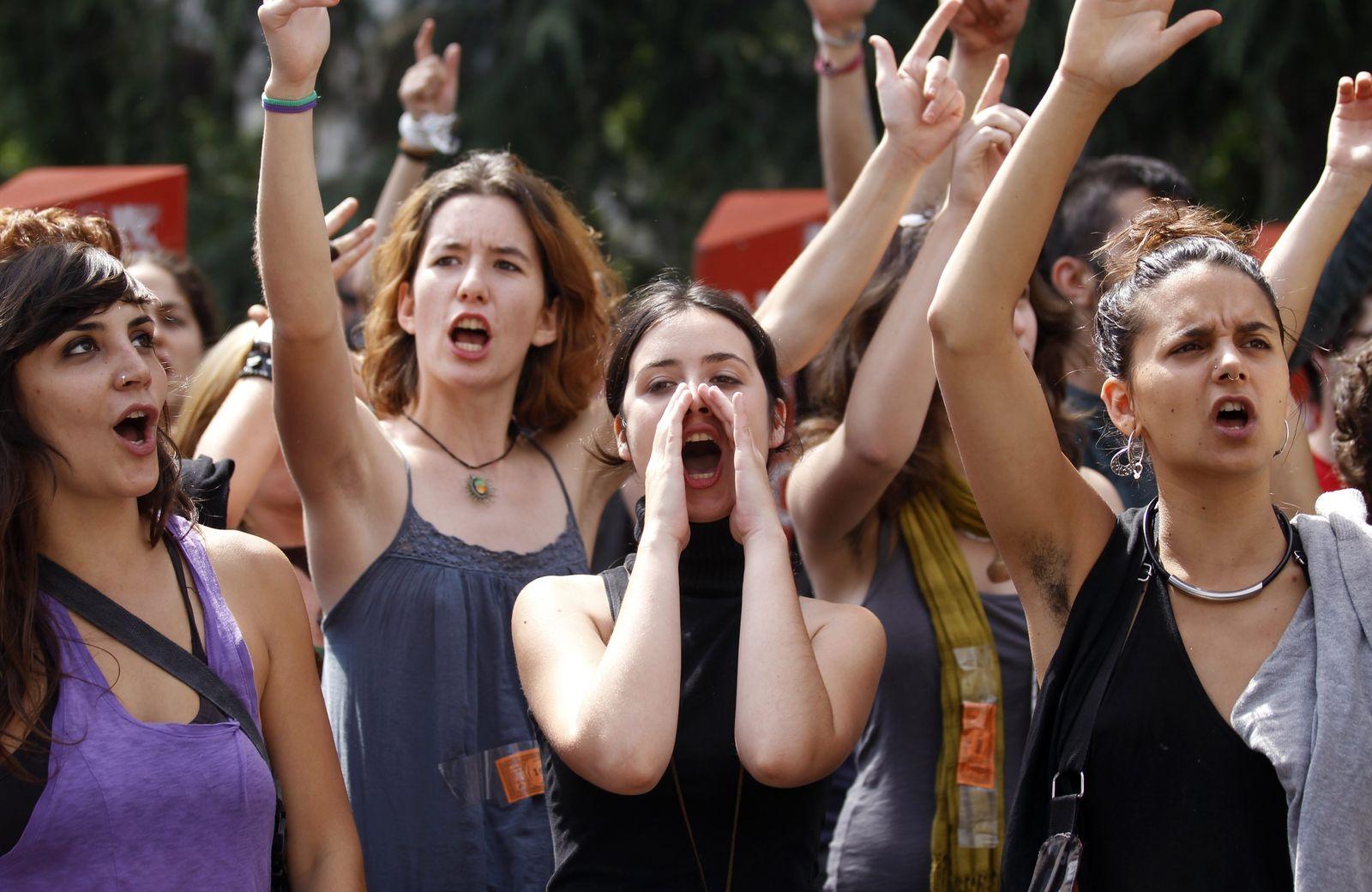 Jugendarbeitslosigkeit Spanien / proteste