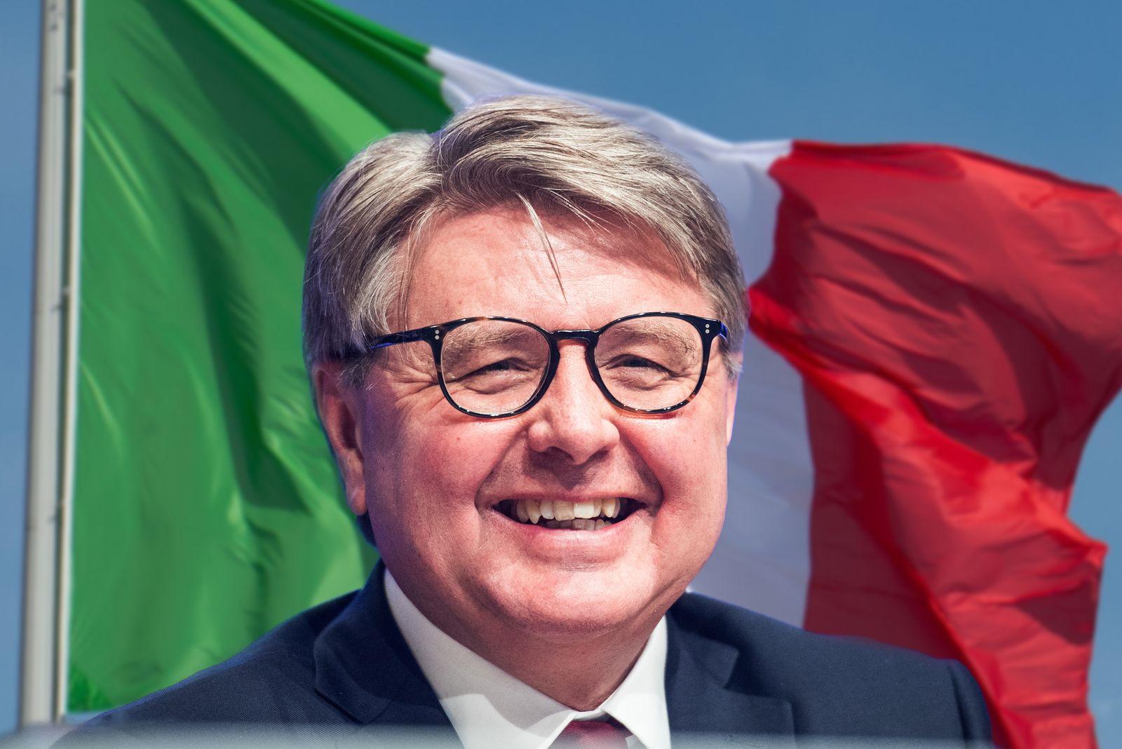 KOMBO Theodor Weimer / Flagge Italien