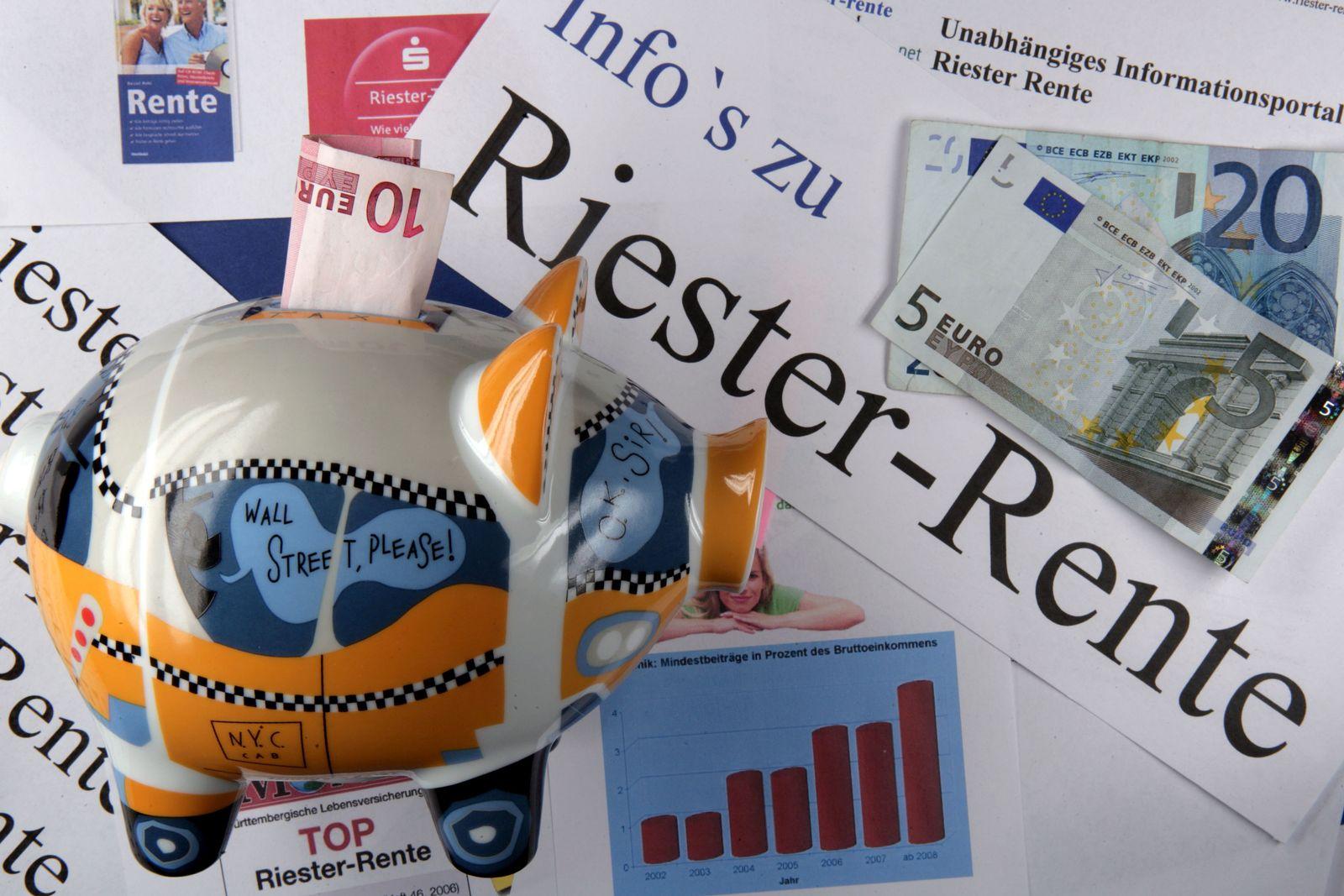 EINMALIGE VERWENDUNG Riester-Rente