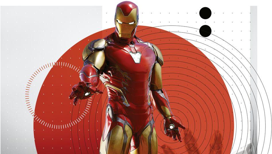 """""""Iron Man"""", der erste Film aus Marvels Superhelden-Saga, spielte an seinem ersten Kinowochenende fast 98 Millionen Dollar ein."""