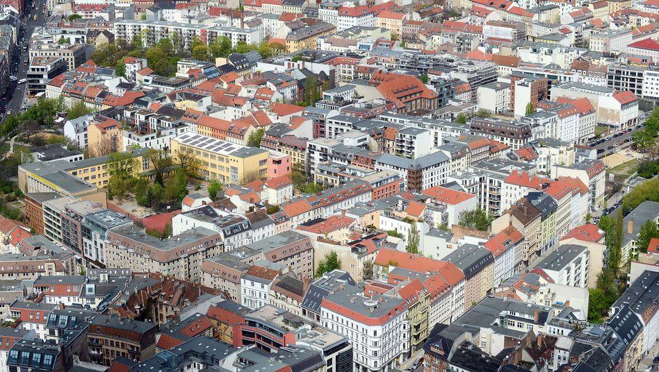 Vermeintliche Traumrenditen mit deutschen Immobilien: Berlin von oben.