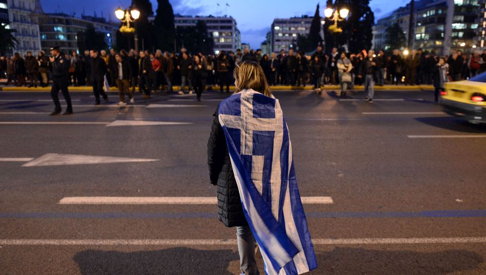 Kundgebung in Athen: Die neue Regierung verlangt eine Reduzierung der Schulden - im Schuldenstreit muss bis Monatsende eine Einigung her