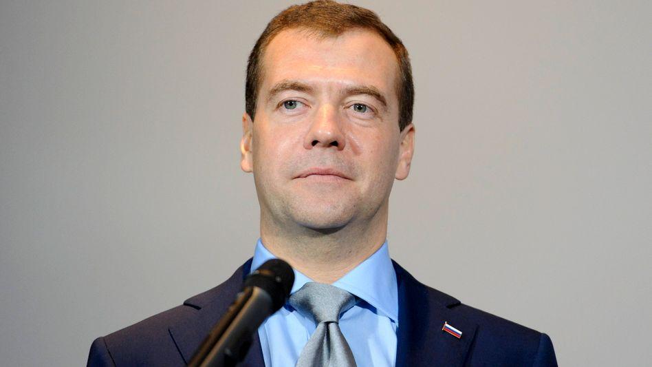 """Russlands Präsident Dmitrij Medwedew (Archivaufnahme): """"Wollen sie einen permanenten Krieg?"""""""
