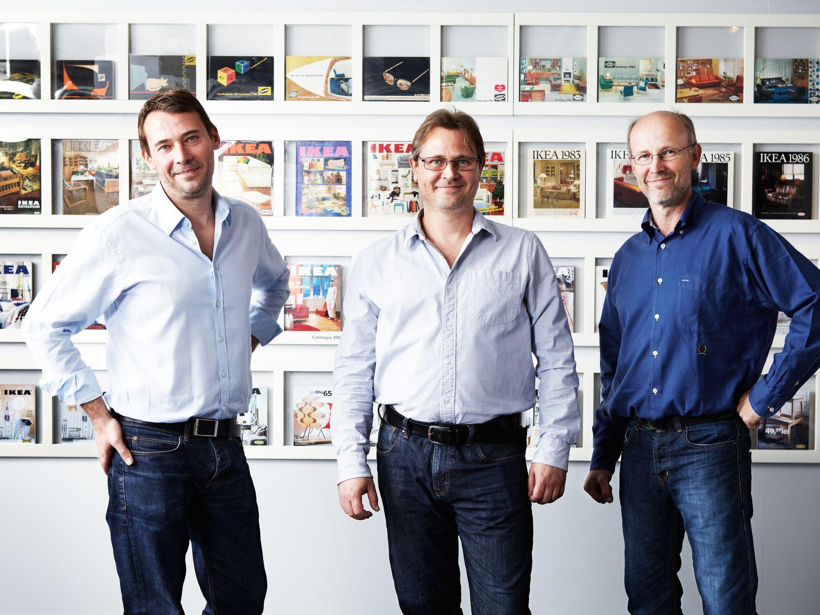 Jonas Kamprad, Mathias Kamprad und Peter Kamprad.