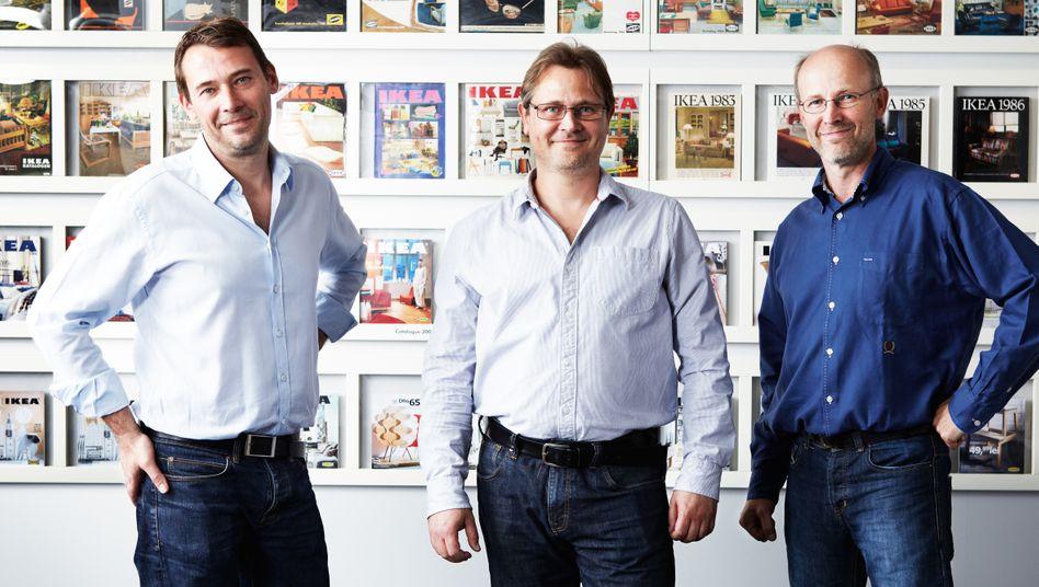 Billy sei dank: Die Ikea-Erben Jonas, Mathias und Peter Kamprad (v.l.) sind heute Multimilliardäre.