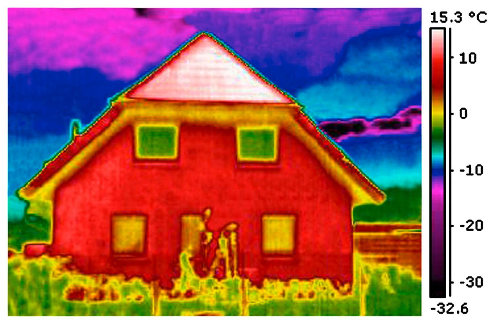Gebäudesanierung / Wärmebild