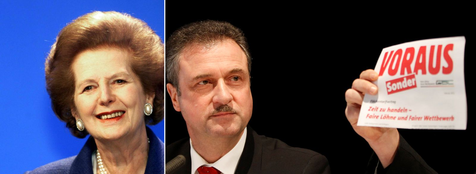 KOMBO Margaret Thatcher / Claus Weselsky