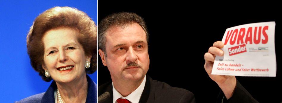 Eiserne Lady Margaret Thatcher, eiserner GDL-Chef Claus Weselsky: Unbelehrbar, weltfremd, egoman