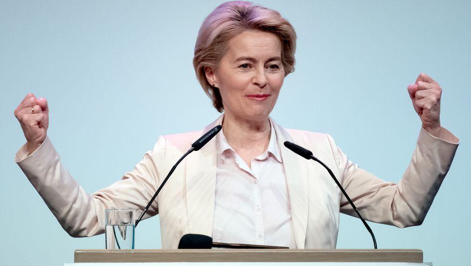"""Die neue EU-Kommissionschefin Ursula von der Leyen: """"Der Green Deal wird die Emissionen senken und gleichzeitig Arbeitsplätze schaffen und unsere Lebensqualität verbessern"""""""