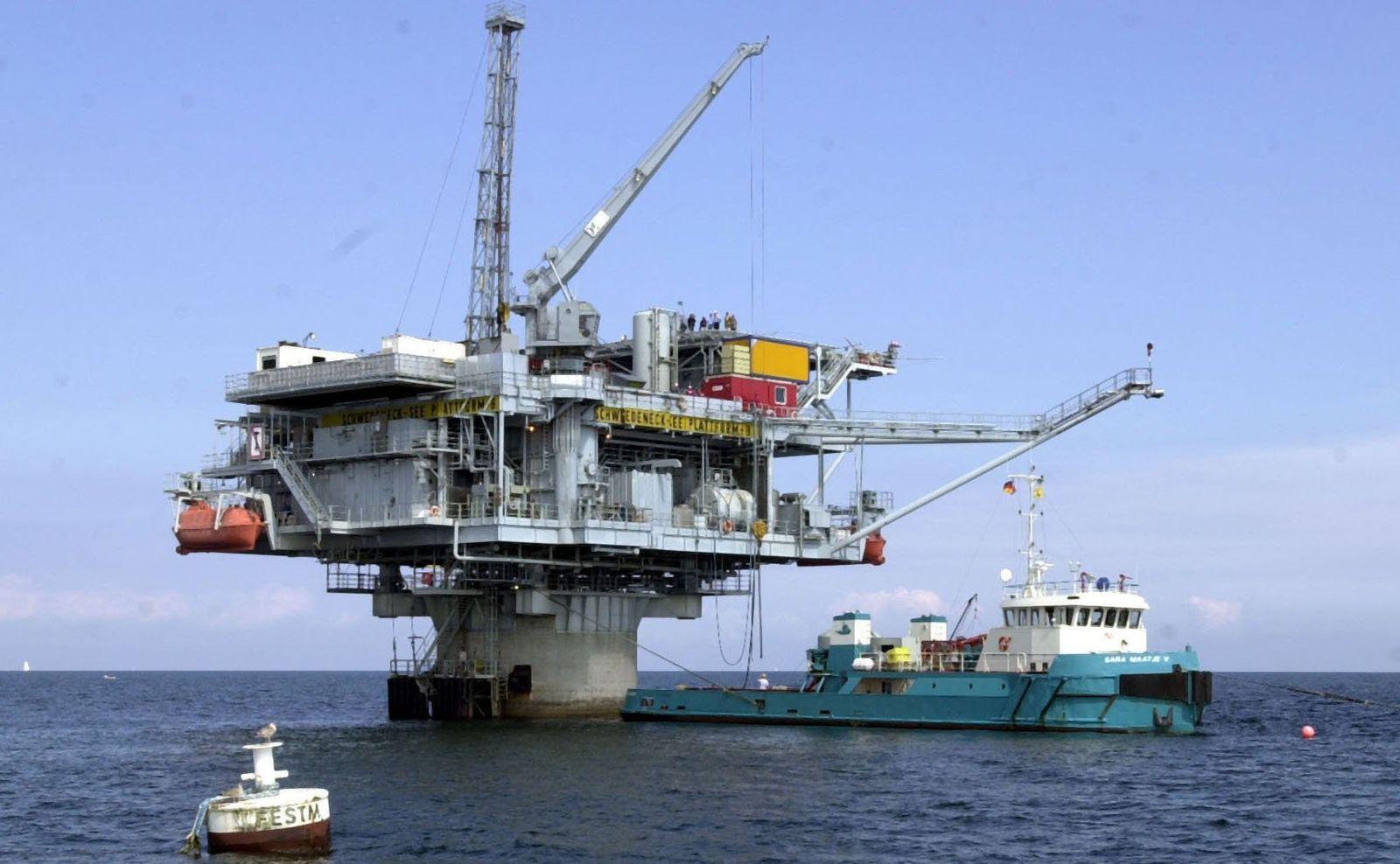 Ölplattform in der Ostsee schwedeneck