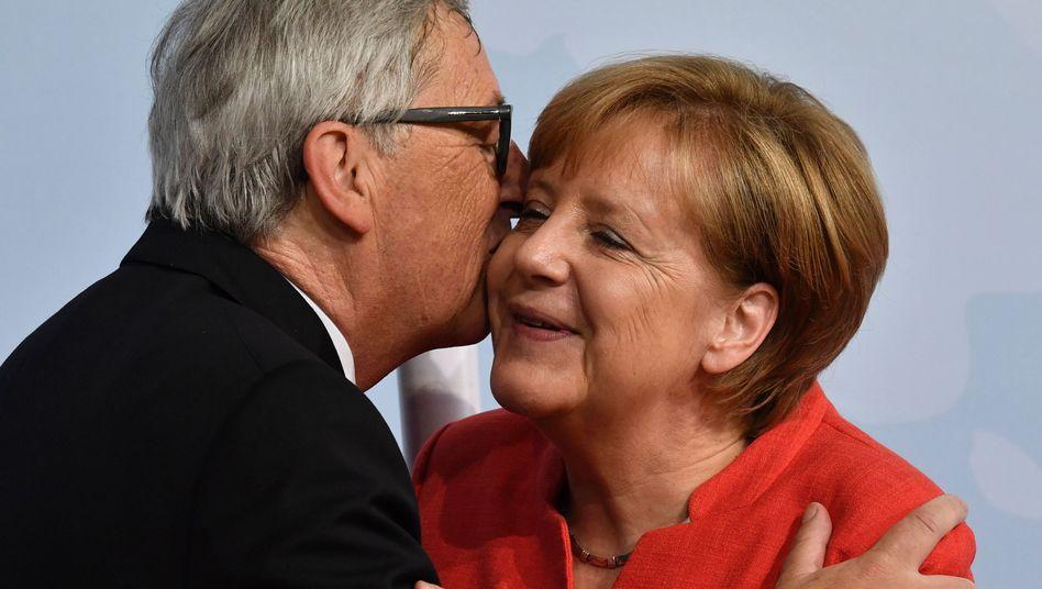 Juncker, Merkel: Bekenntnis zum Freihandel - doch Trump spricht lieber über Nordkorea