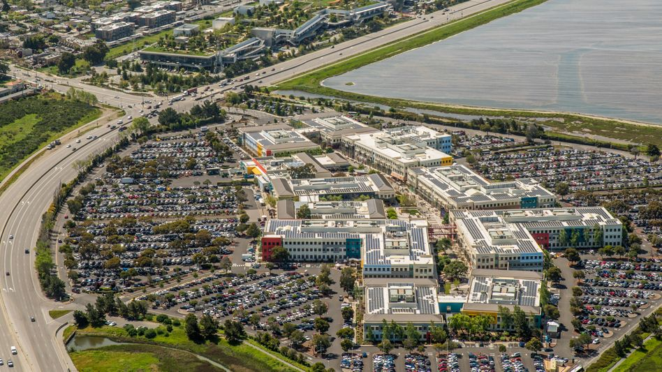 Zutritt nur mit Impfnachweis: Facebook-Campus in Menlo Park nahe der Bucht von San Francisco