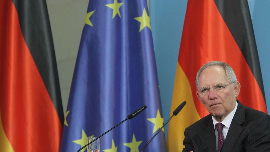 Die Euro-Krise kommt Deutschland (im Bild Finanzminister Wolfgang Schäuble) teuer: Finanzwissenschaftler Stefan Homburg hält die Debatte um künftige Steuereinnahmen für gespenstisch